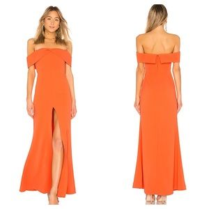 NWT Lovers + Friends Danica Gown in Vermillion